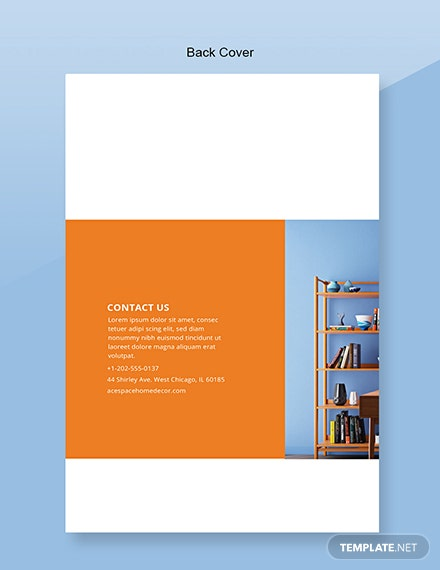 Free Home Decor Catalog Template Back