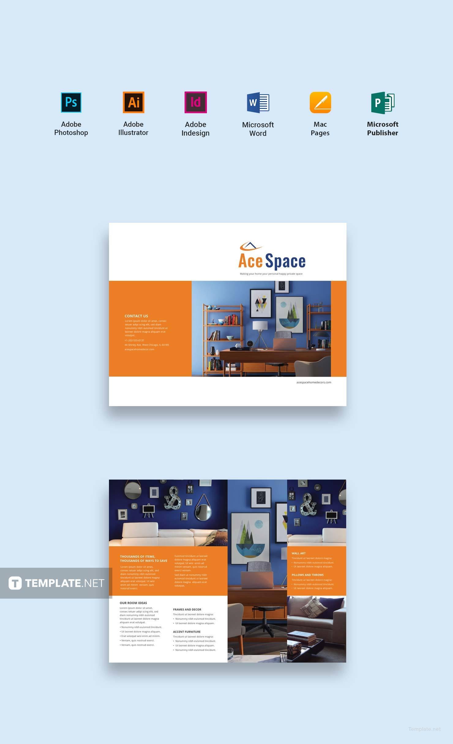 Interior Home Decor Catalog Template