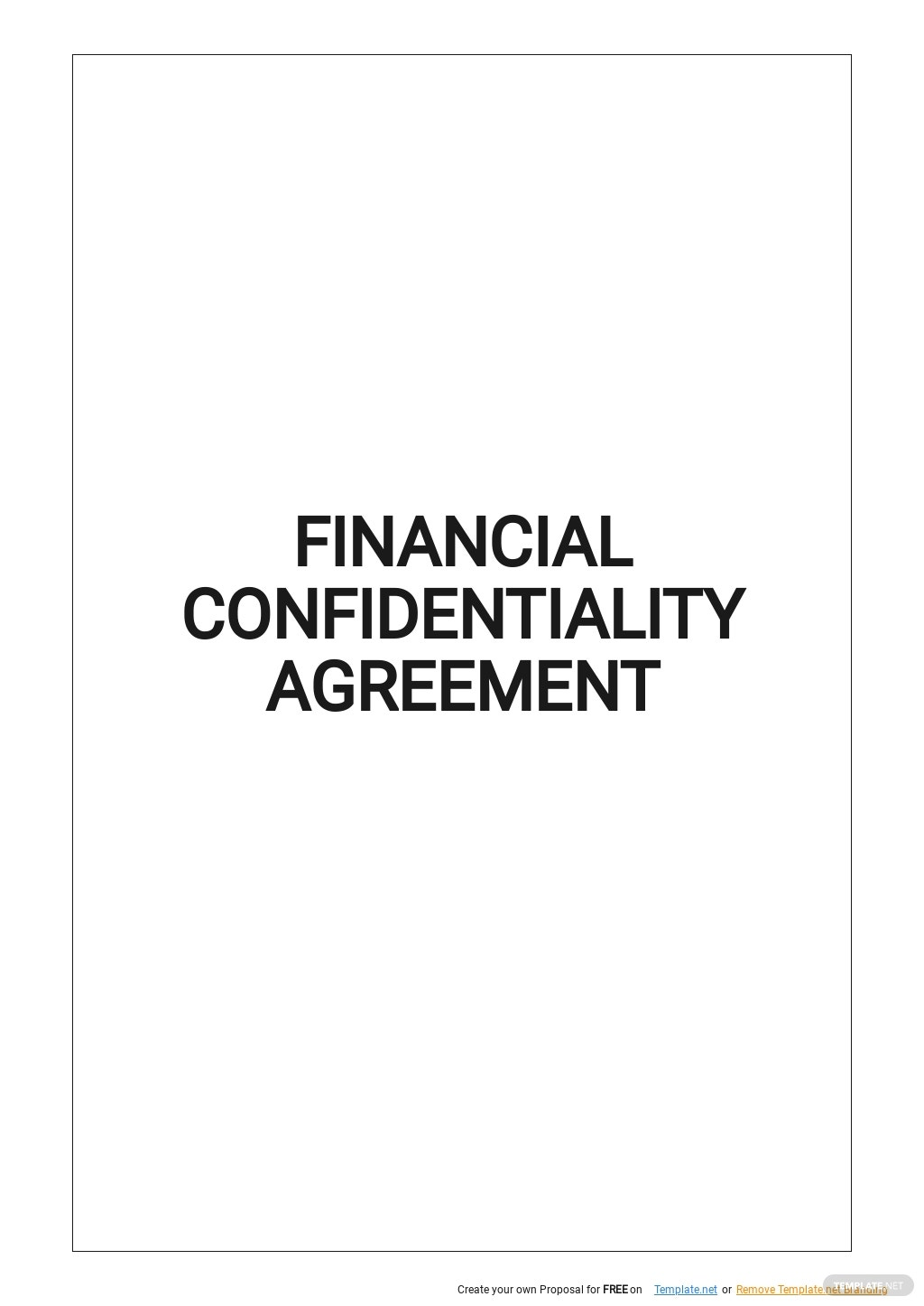 Financial Confidentiality Agreement Template.jpe
