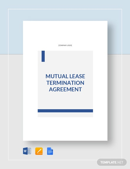 Mutual Lease Termination Agreement Template