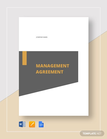 Management Agreement Template