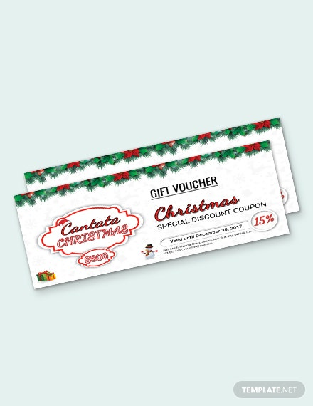 Free Christmas Special Discount Voucher Template