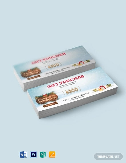 Elegant Christmas Voucher