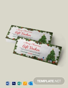 Free Christmas Invitation Coupon Template