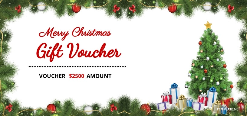 Christmas Invitation Coupon Template