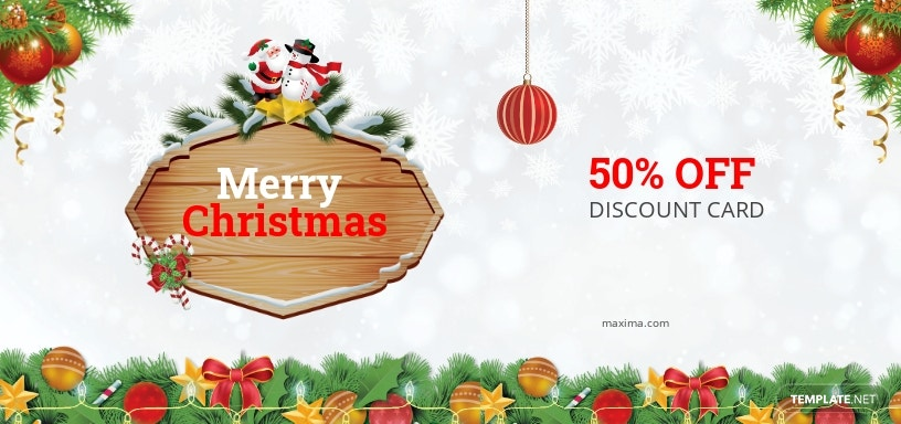 Christmas Discount Coupon Card Template
