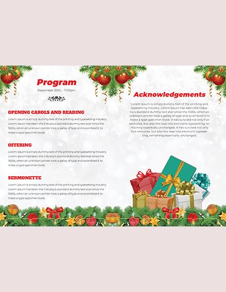 Christmas BiFold Brochure Template download