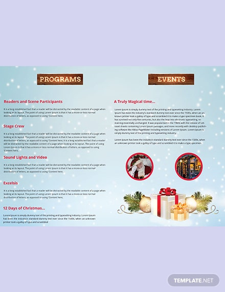 Christmas and New Year biFold Brochure Template download