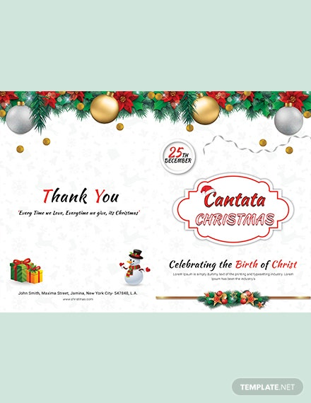 Simple Christmas BiFold Brochure Template