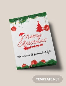 Free Merry Christmas Bi-Fold Brochure Template