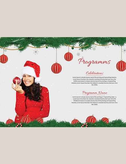 Merry Christmas BiFold Brochure Template Download