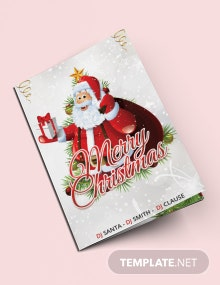 Free Christmas Party Bi-Fold Brochure Template