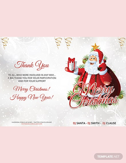 Christmas Party BiFold Brochure Template