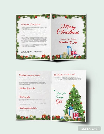 Free Merry Christmas Brochure Template
