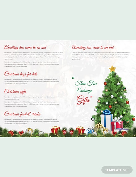 Merry Christmas Brochure Template download