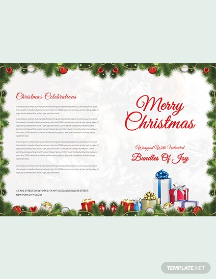 Merry Christmas Brochure Template