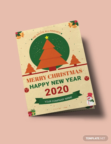 Free Minimal Christmas Bi-Fold Brochure Template