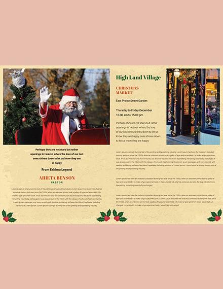 Minimal Christmas BiFold Brochure Template download