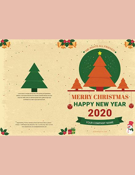 Minimal Christmas BiFold Brochure Template