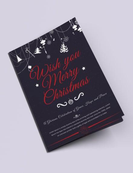 Free Modern Christmas Bi-Fold Brochure Template