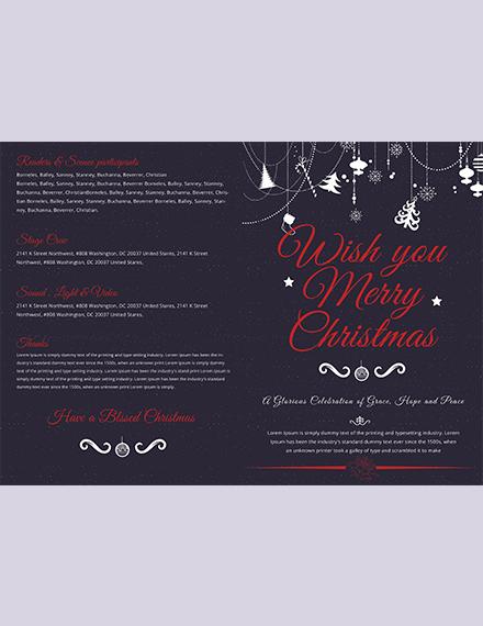 Modern Christmas BiFold Brochure Template