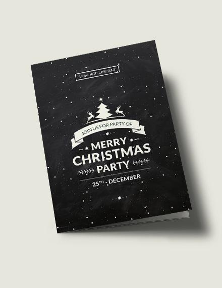 Free Chalkboard Christmas Bi-Fold Brochure Template