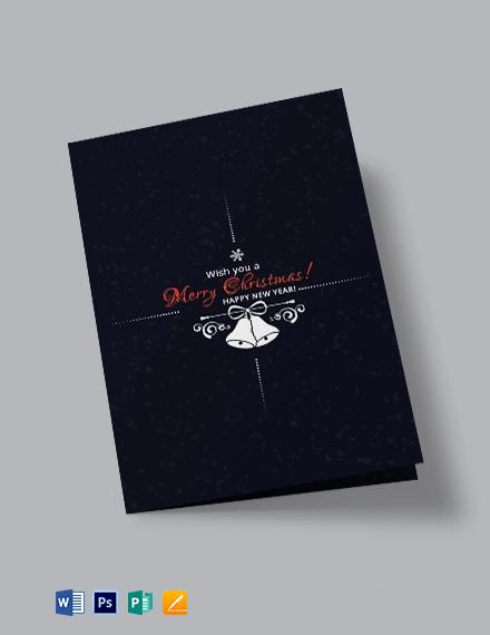 Free Creative Christmas Bi-Fold Brochure Template