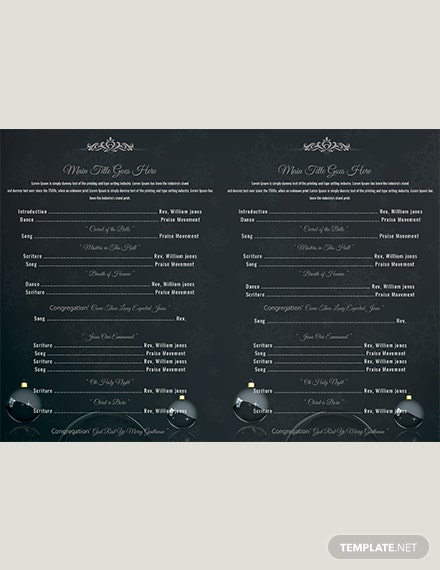 Christmas Party Brochure Template download