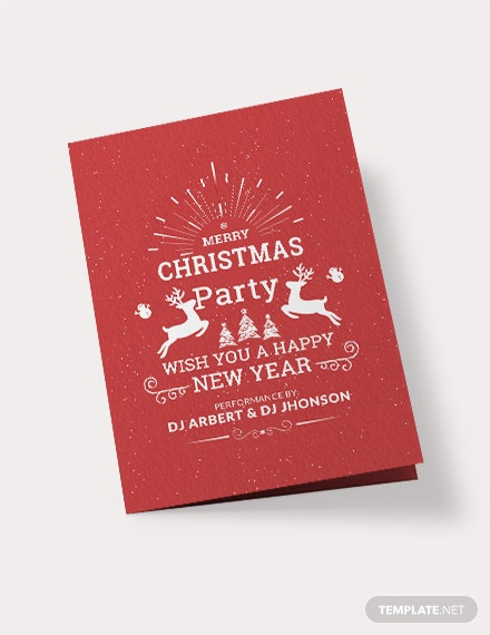 Free Retro Christmas Bi-Fold Brochure Template