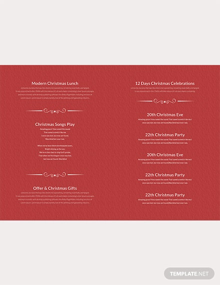 Retro Christmas Bi-Fold Brochure Template [Free Publisher] - Word, Apple Pages, PSD