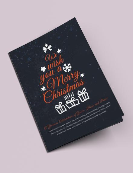 Free Christmas Half-Fold Brochure Template