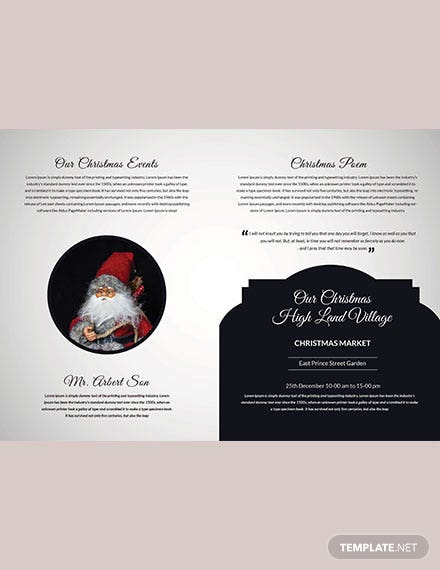 Modern Christmas Brochure Template download