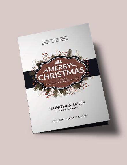 Free Modern Christmas Brochure Template