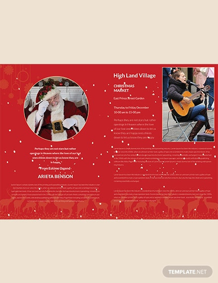 Christmas Fest BiFold Brochure Template download