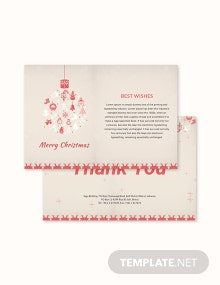 Free Christmas Thank You Card Template