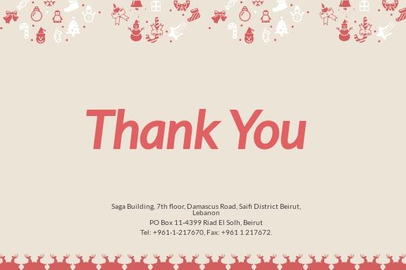 Free Christmas Thank You Card Template 1.jpe