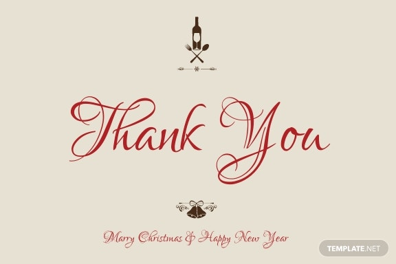 Free Vintage Christmas Thank You Card Template 1.jpe