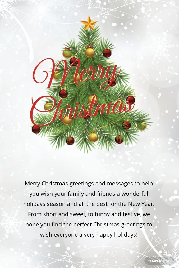 Free Merry Christmas Thank You Card Template 1.jpe