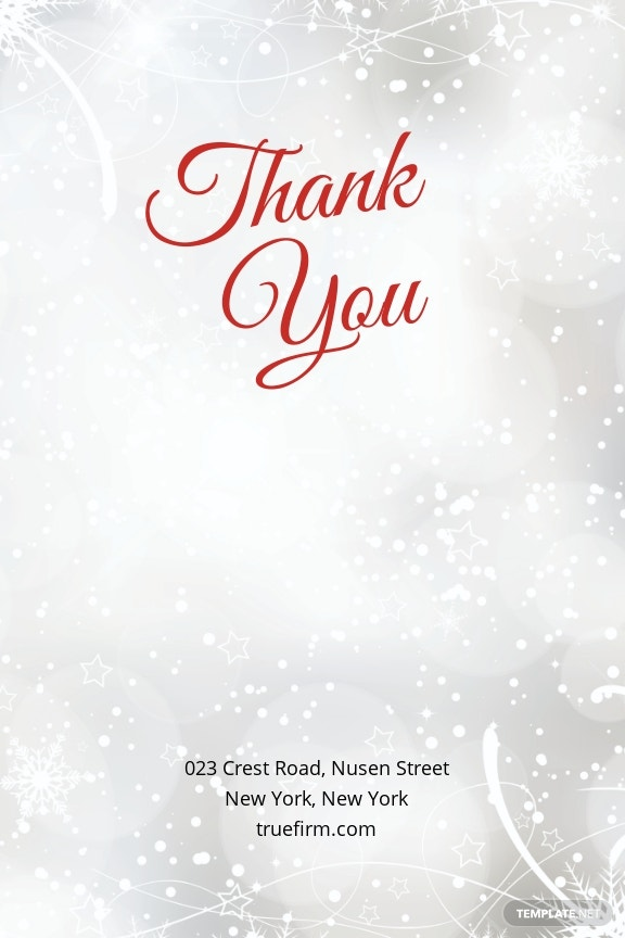 Merry Christmas Thank You Card Template
