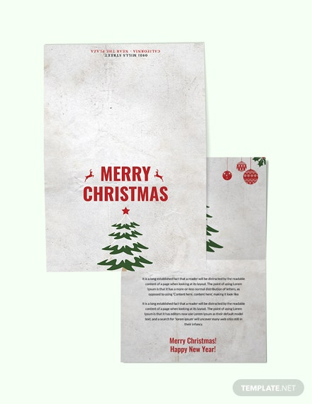 Free Modern Christmas Thank You Card Template
