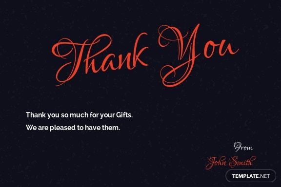 Chalkboard Christmas Thank You Card Template