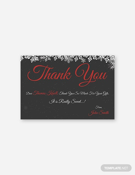 Free Creative Christmas Thank You Card Template
