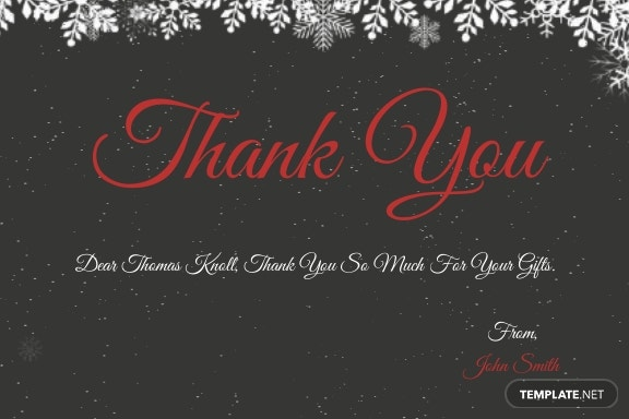 Creative Christmas Thank You Card Template