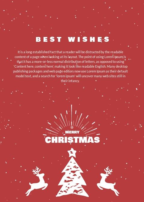 Free Retro Christmas Thank You Card Template 1.jpe