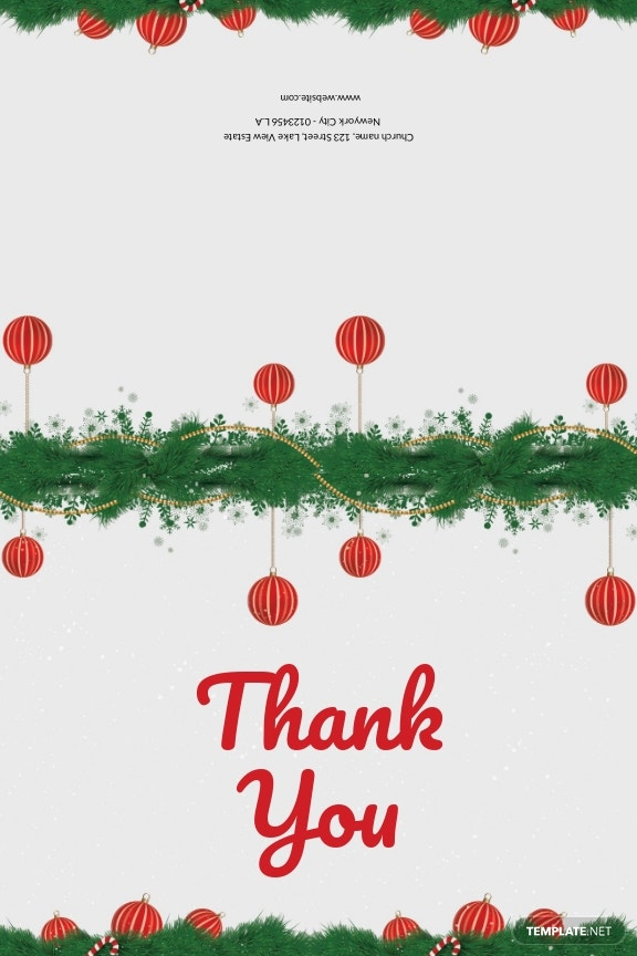 Minimal Christmas Thank You Card Template