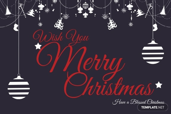 Free Christmas Gift Thank You Card Template 1.jpe