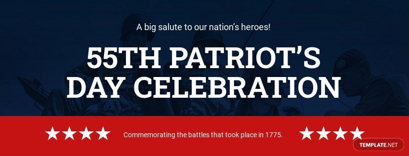 Patriot's Day Facebook App Cover Template