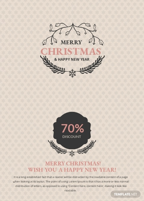 Free Christmas Discount Thank You Card Template 1.jpe