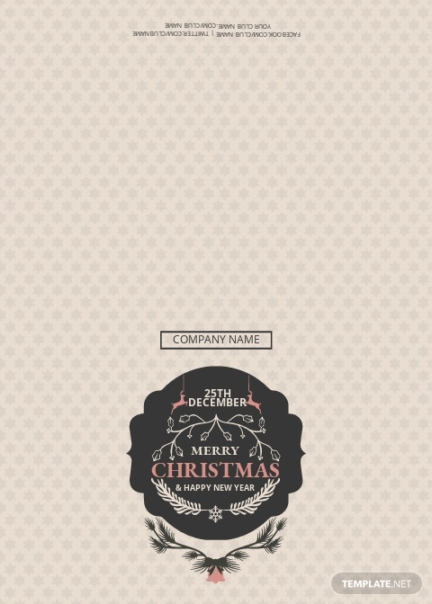 Christmas Discount Thank You Card Template