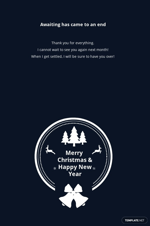 Free Modern Christmas and New Year Thank You Card Template 1.jpe